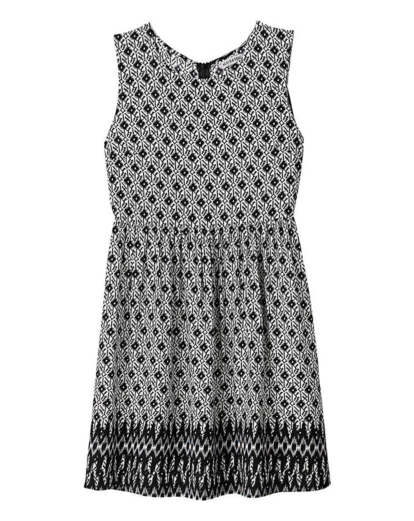Image of Alice and You Border Print Skater Dress