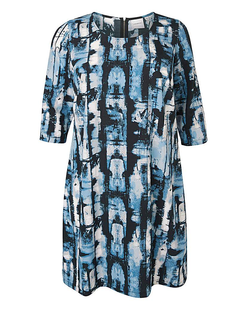 Junarose Blue Print Straight Dress