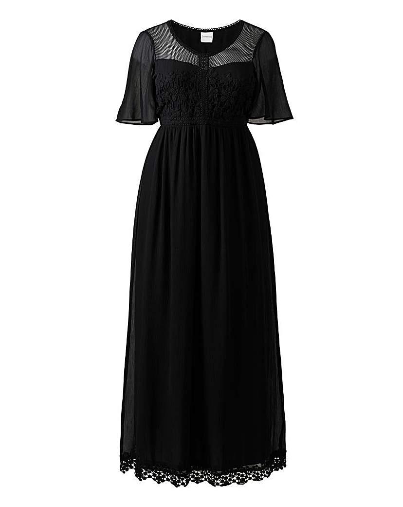 Junarose Crochet Maxi Dress