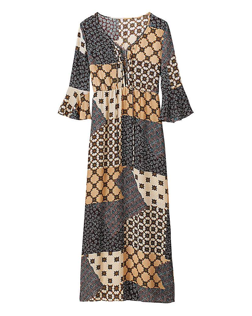 Alice and You Patchwork Print Maxi Dress