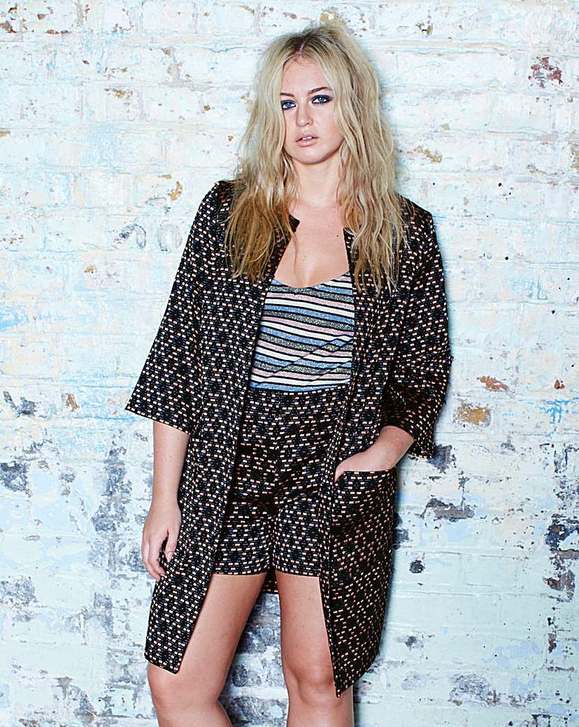 Image of Simply Be Jacquard Co-ord Jacket
