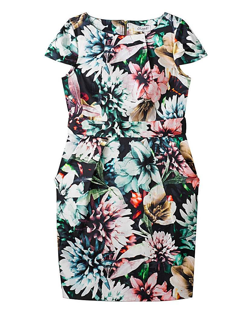 Image of Closet Floral Tulip Tie Back Dress