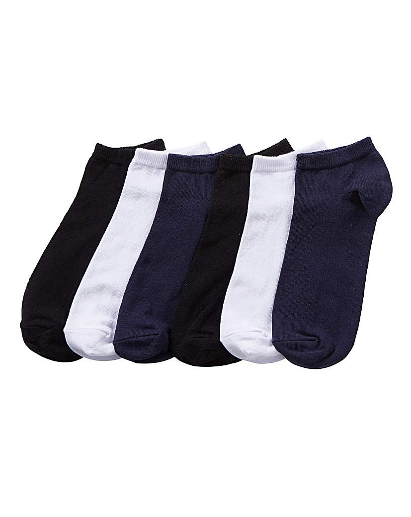 Capsule Pack of 6 Mix Trainer Socks