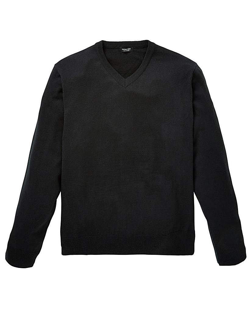 Image of Capsule Black V-Neck Jumper