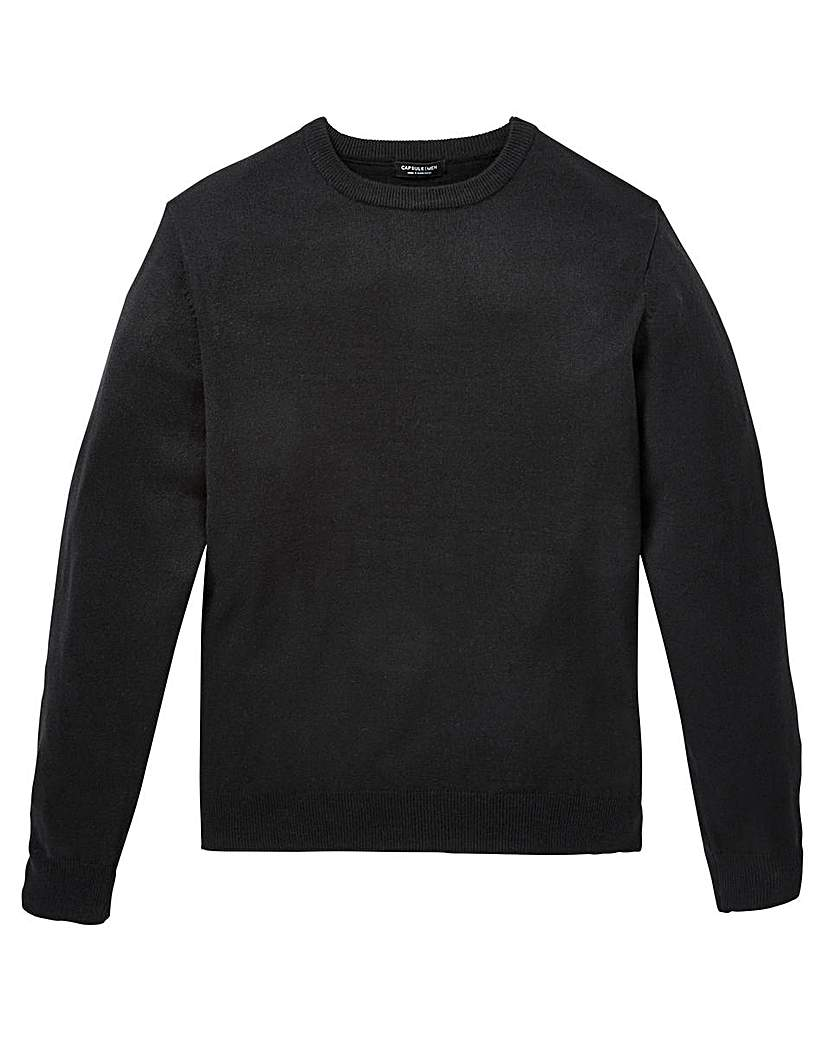 Image of Capsule Black Crew Neck Jumper