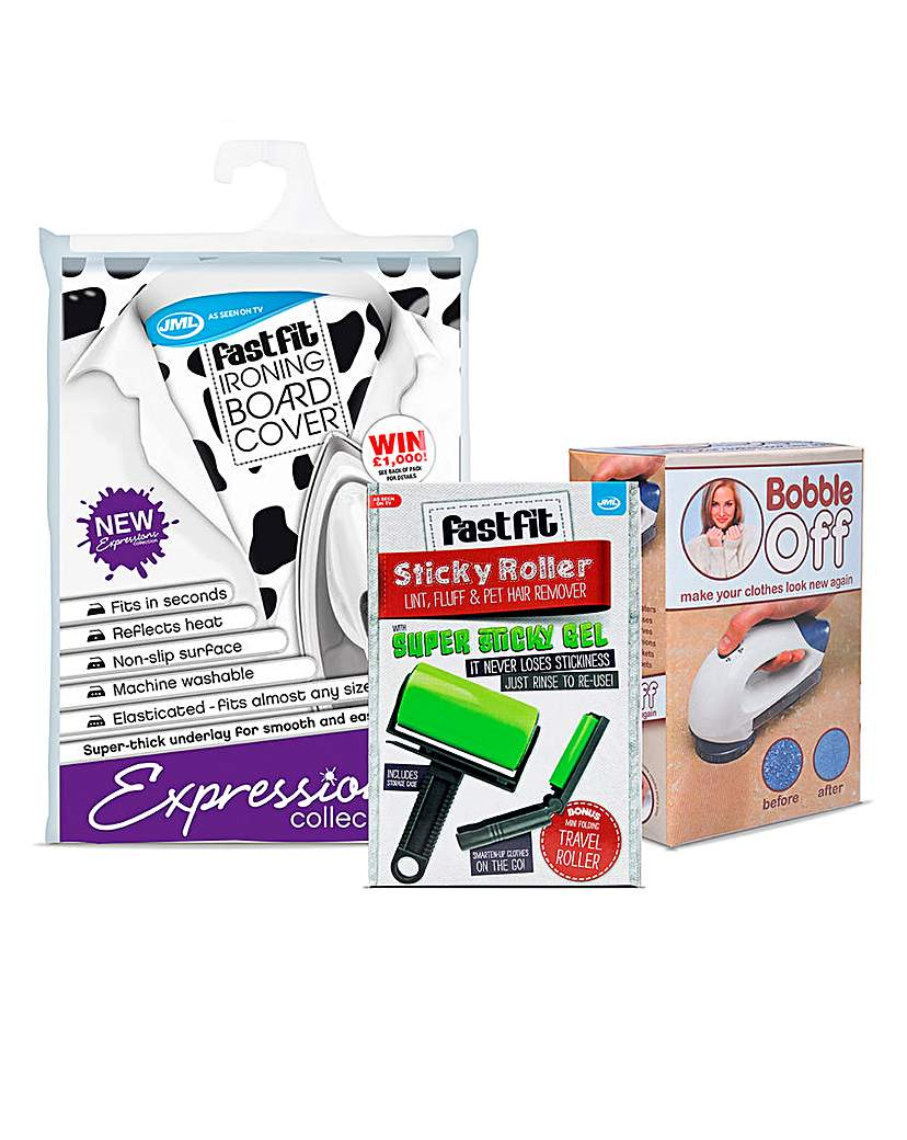 Bobble Off Ironing Cover & Sticky Roller