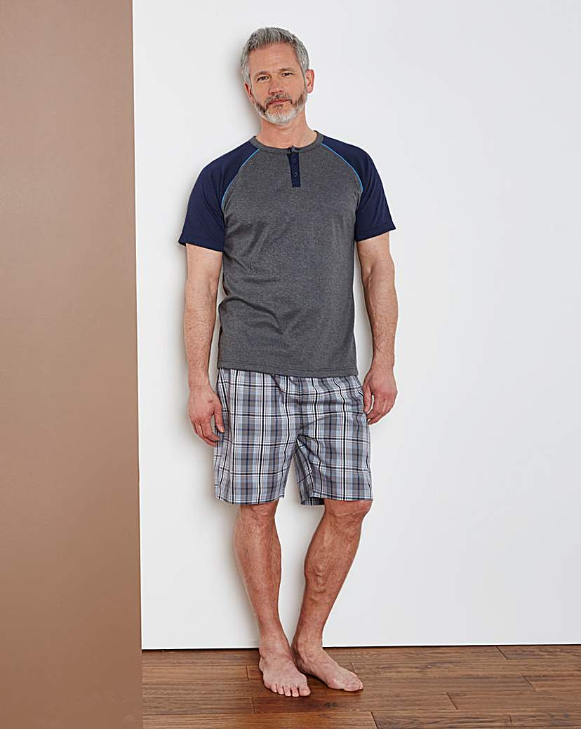Southbay Check Shorts Pyjama Set