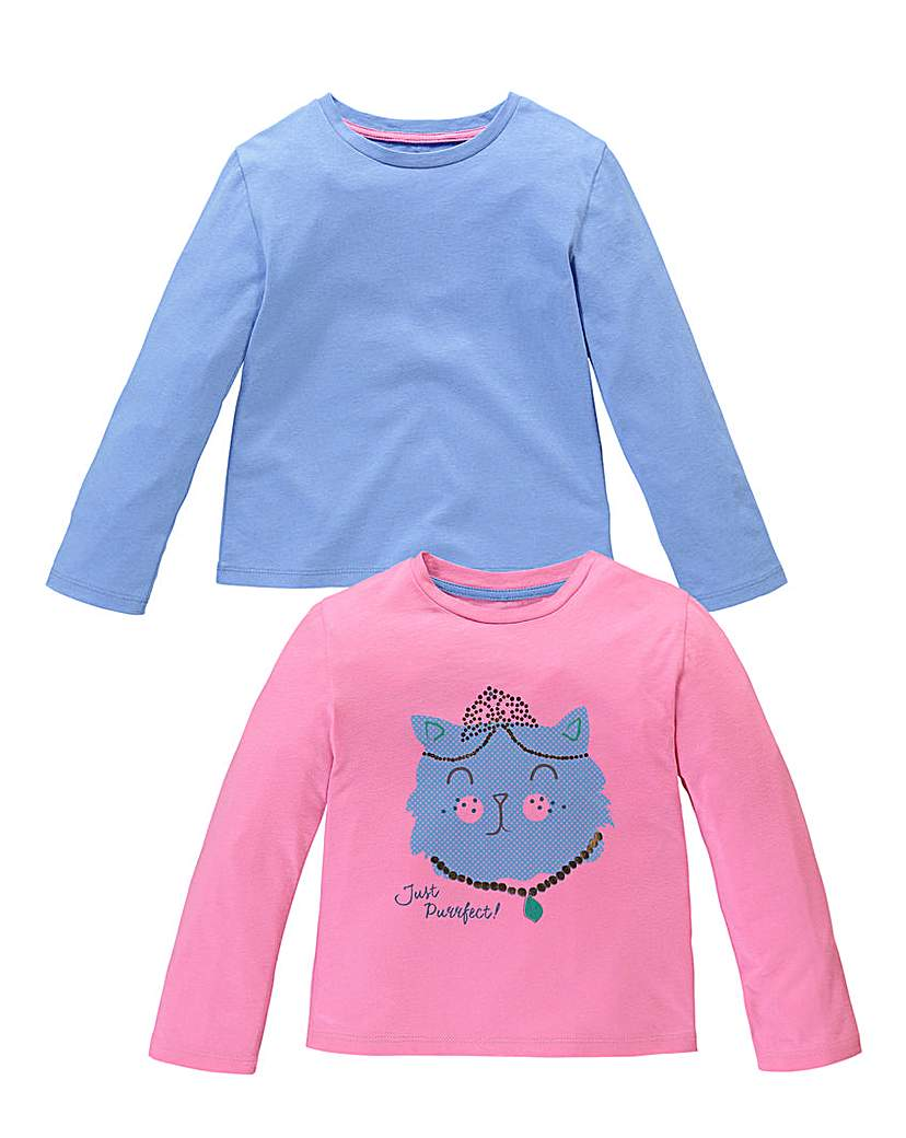 Product photo of Kd mini girls pack of two tops 27 yrs