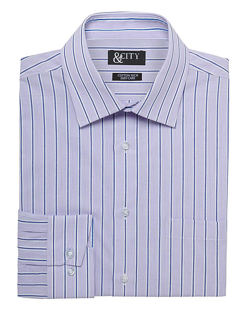 Image of &City Mighty Bold Stripe Shirt