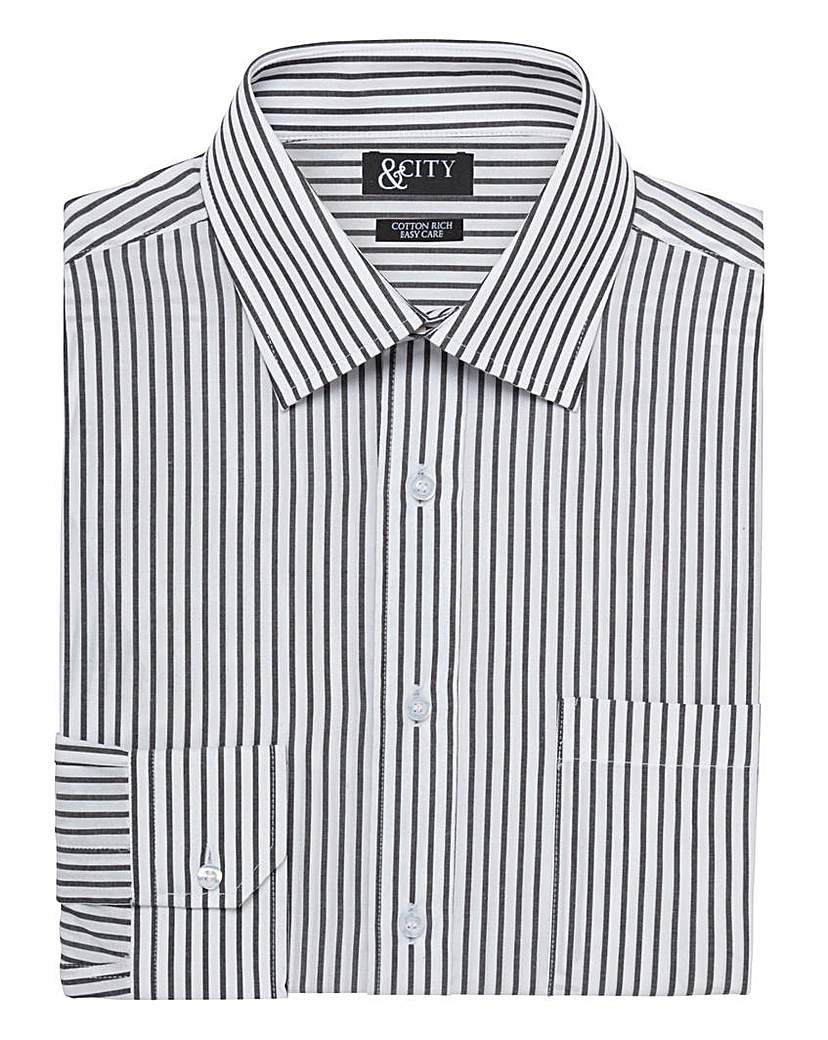 Image of & City Mighty Classic Stripe Shirt