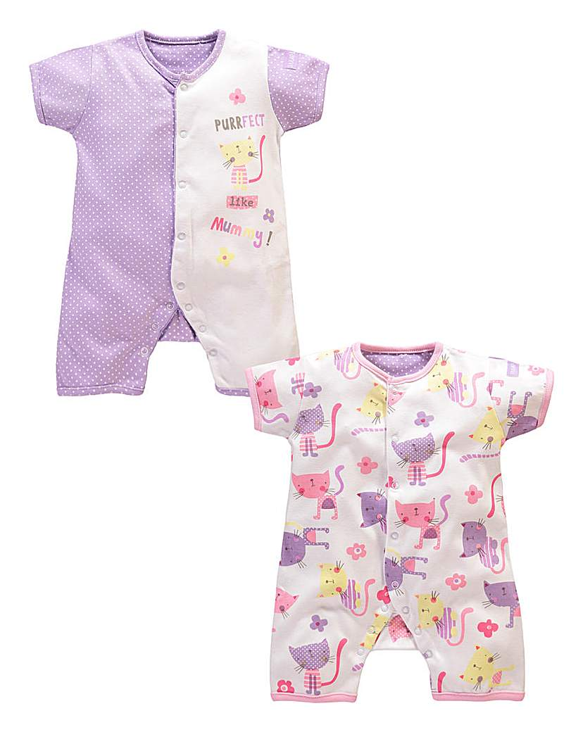 Image of Lollipop Lane Girls Two Pack Rompers