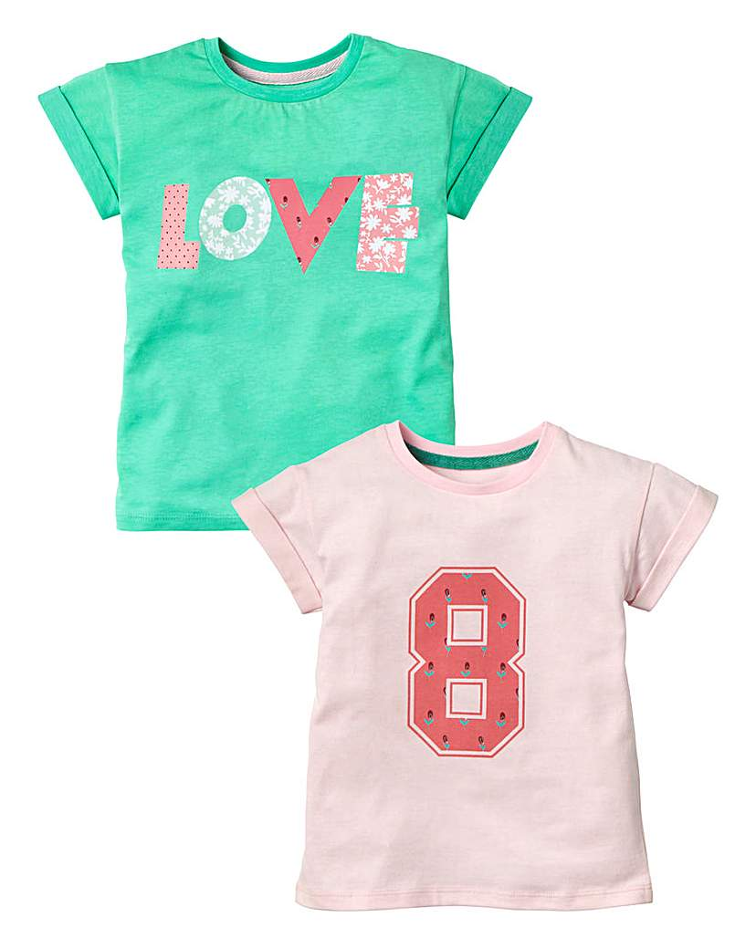 KD MINI Girl Pack of Two T-Shirts