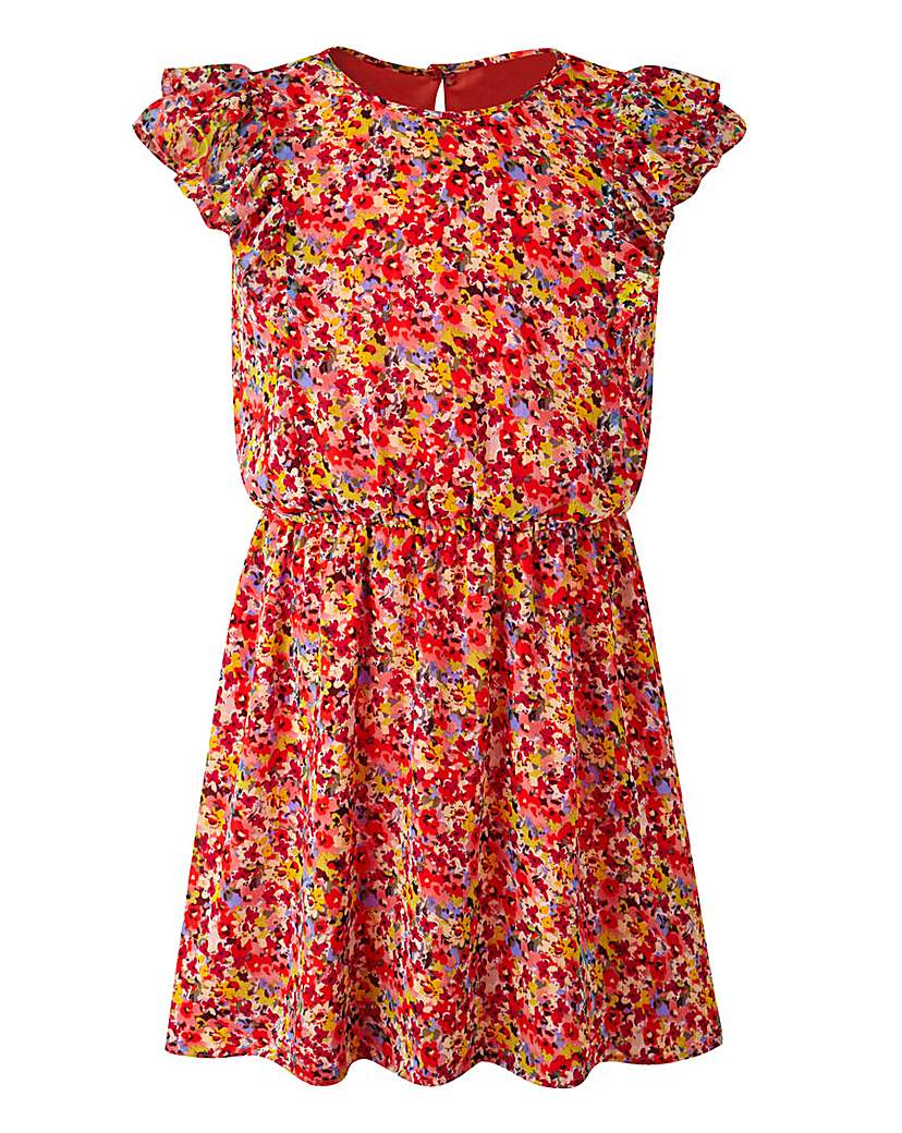 Image of KD EDGE Floral Print Dress (8-13 yrs)