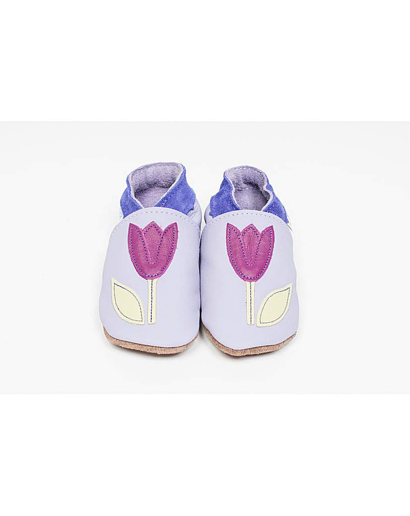 Image of Hippychick Baby Shoes Lilac Tulips