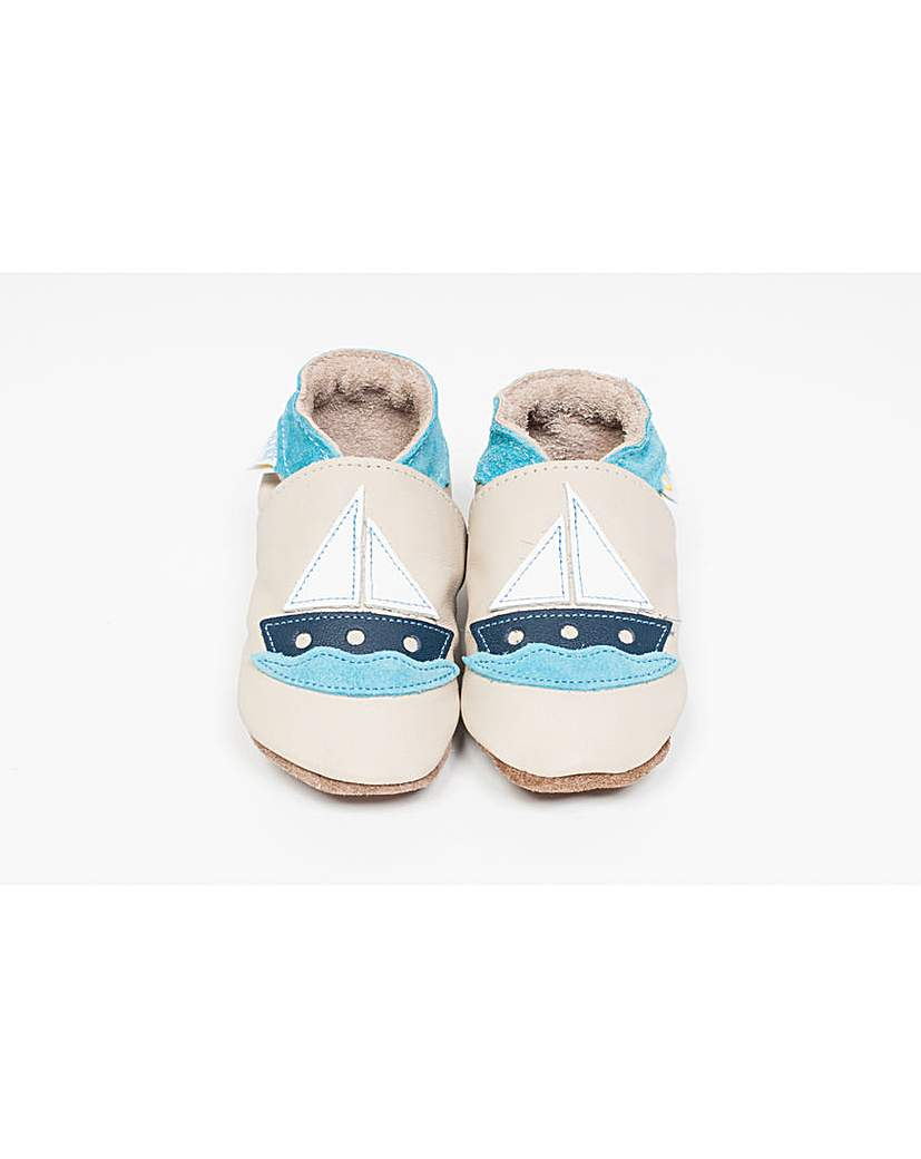 Image of Hippychick Baby Shoes Beige Boats