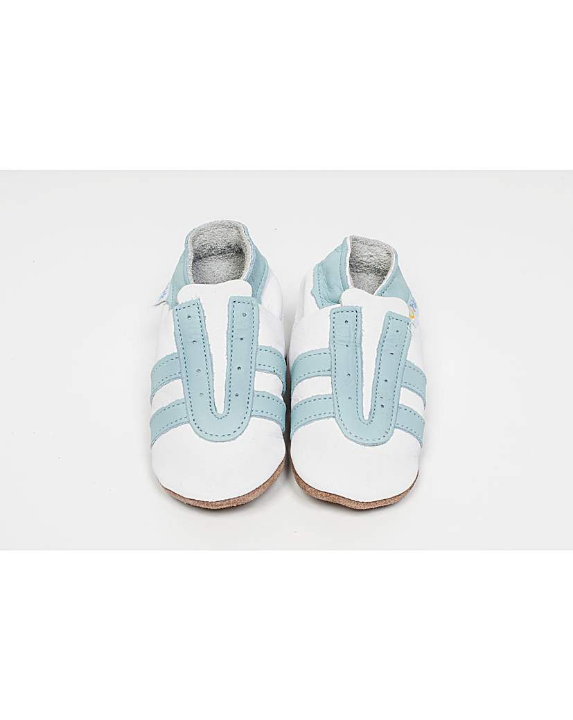 Image of Hippychick Baby Shoes White/Blue Trainer