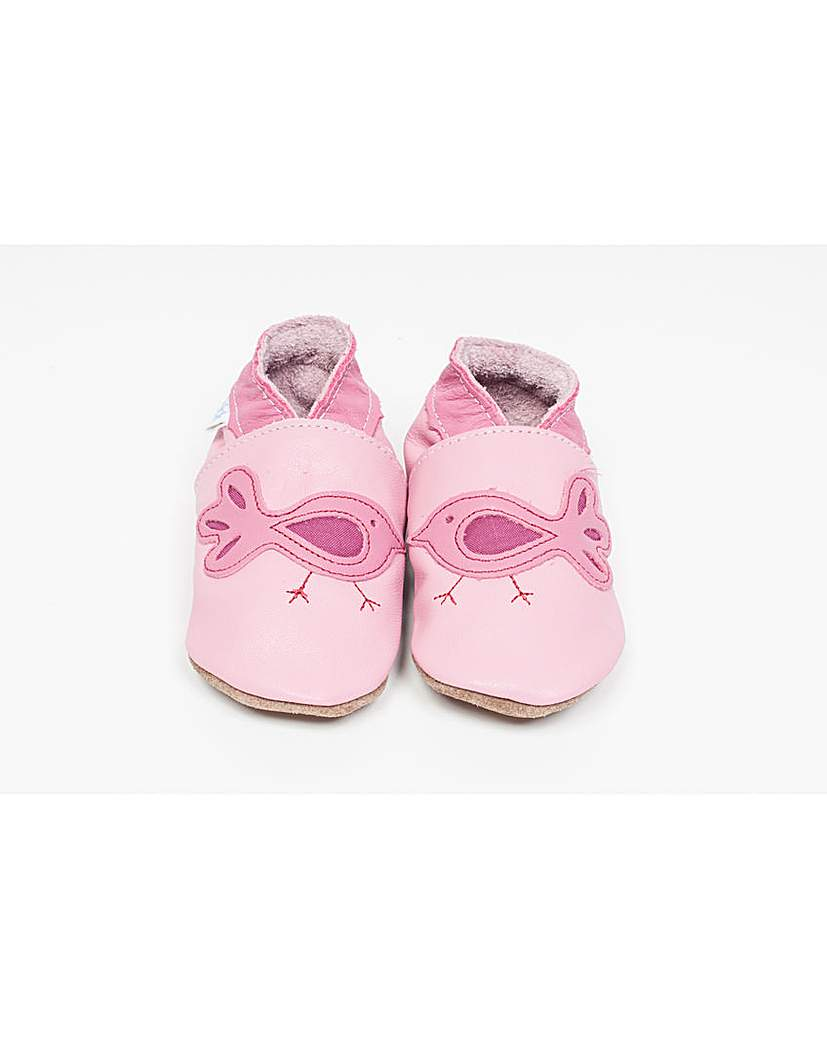 Image of Hippychick Baby Shoes Pink Birds