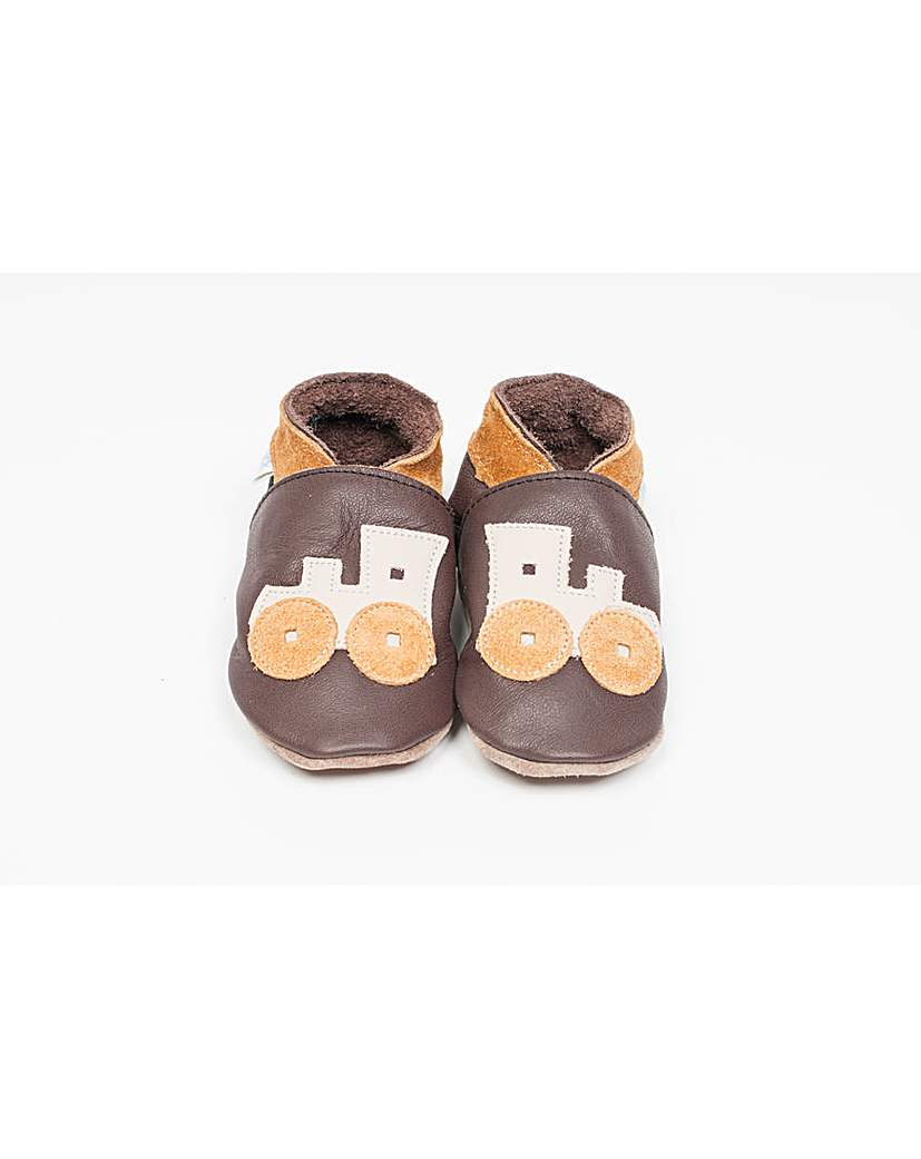 Image of Hippychick Baby Shoes Chocolate Trains