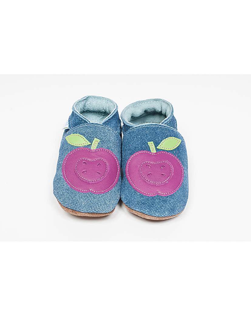 Hippychick Baby Shoes Denim/Purple Plums.
