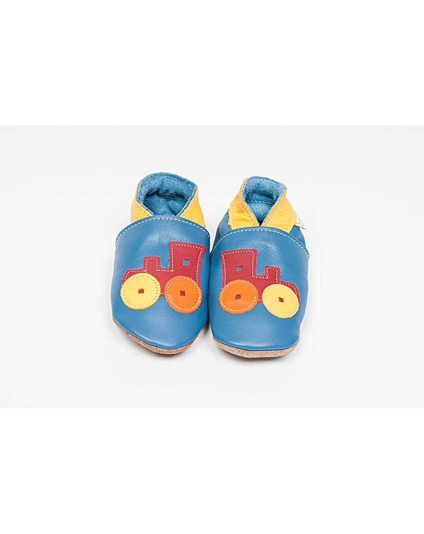Image of Hippychick Baby Shoes Blue Trains