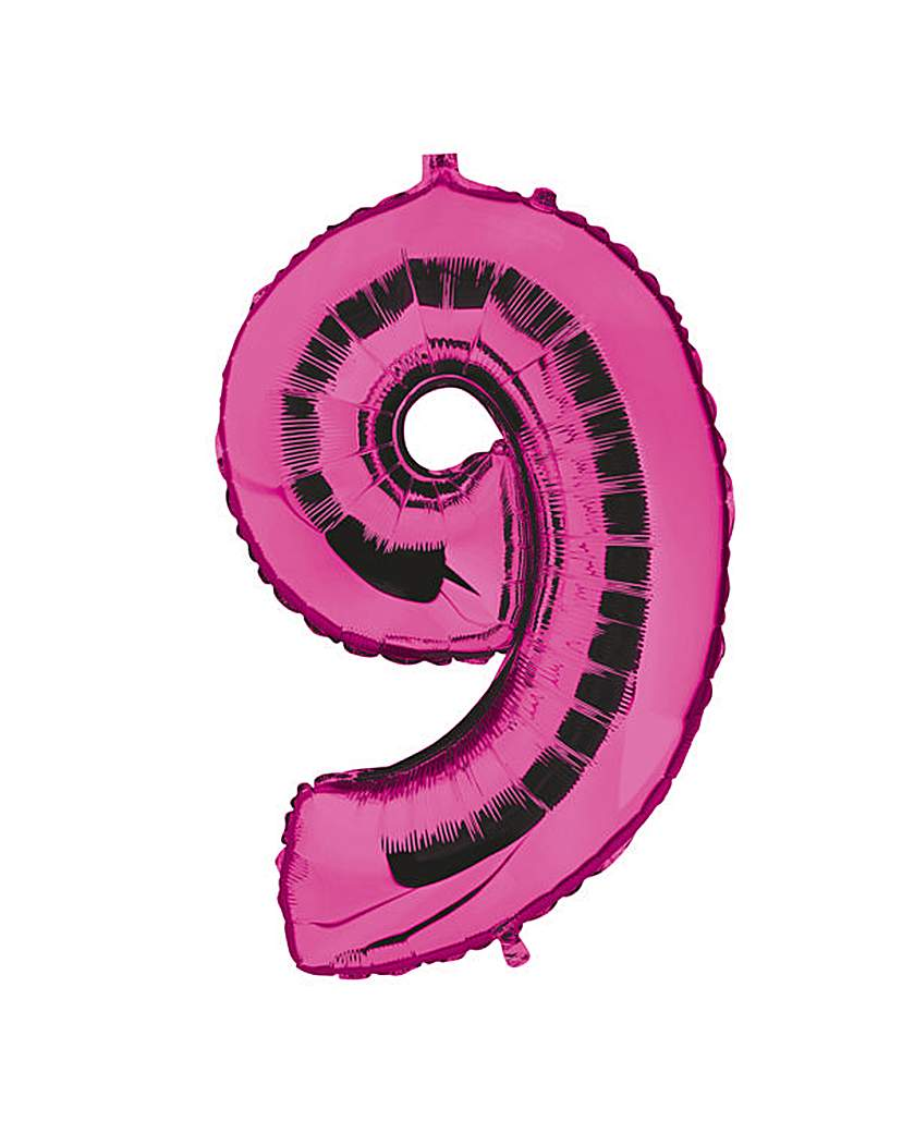 Image of 100cm Numeral Balloon Fuchsia Number 9