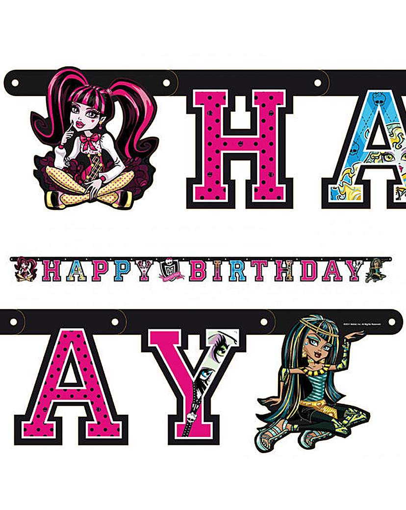 Image of Monster High letter banner