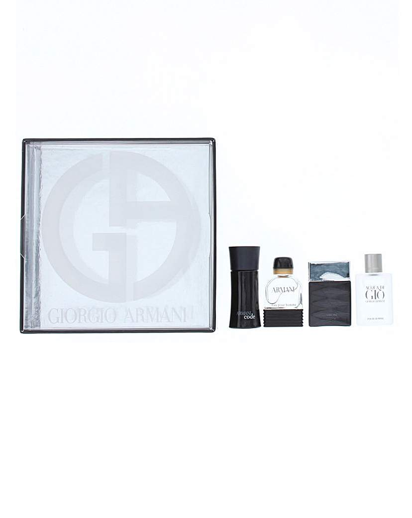 Armani Mens Miniature 4 Piece Set