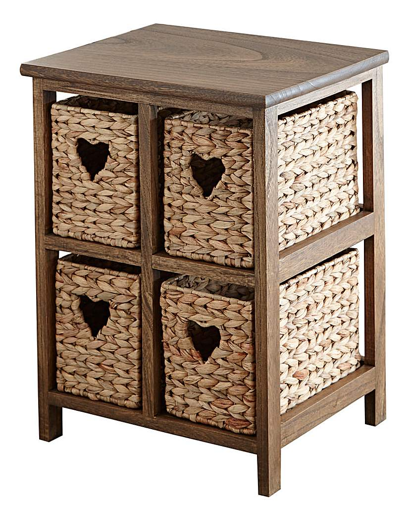Image of Hyacinth Hearts 4 Drawer Square Unit
