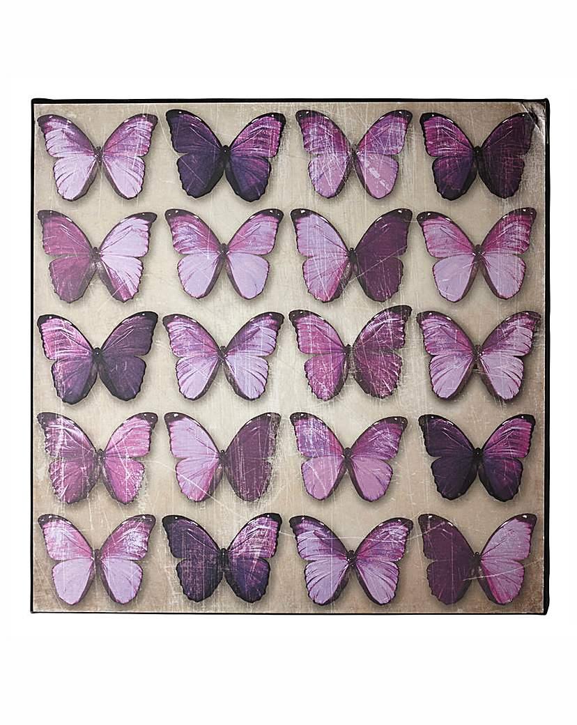 Plum Butterflies Foil Wall Art
