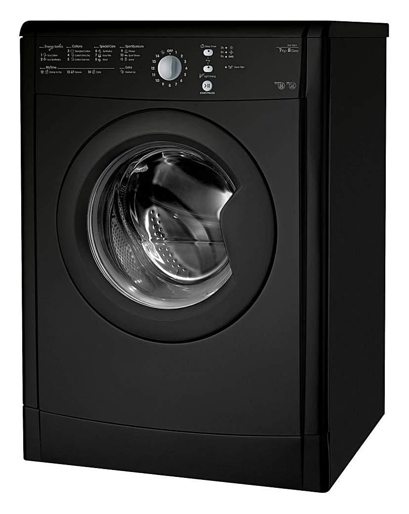 Indesit 7KG Vented Sensor Dryer Black