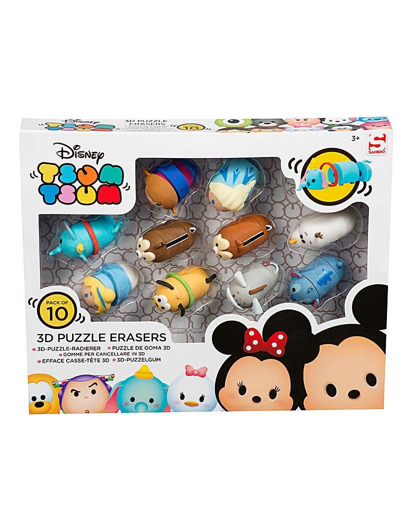 Image of Disney Tsum Tsum Puzzle Erasers 10pc