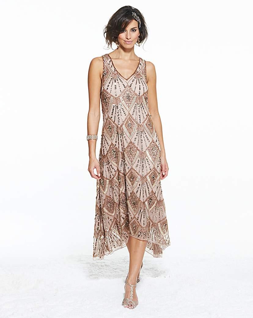 Petite Joanna Hope Beaded Mesh Dress £112.00 AT vintagedancer.com