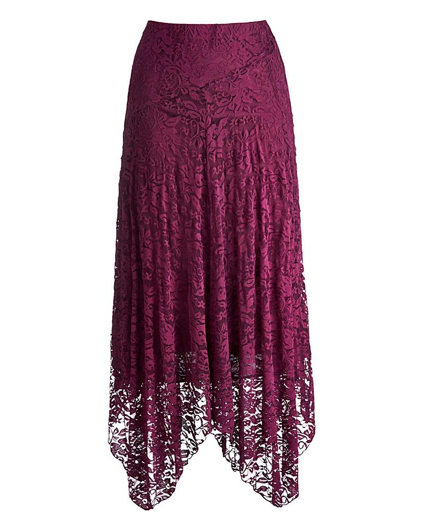 1920s Style Skirts Joanna Hope Asymetric Hem Lace Skirt £13.00 AT vintagedancer.com