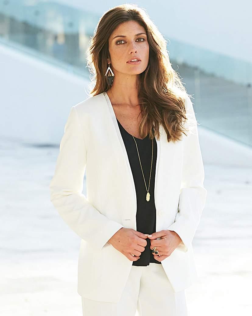 JOANNA HOPE Satin Trim Tailored Jacket