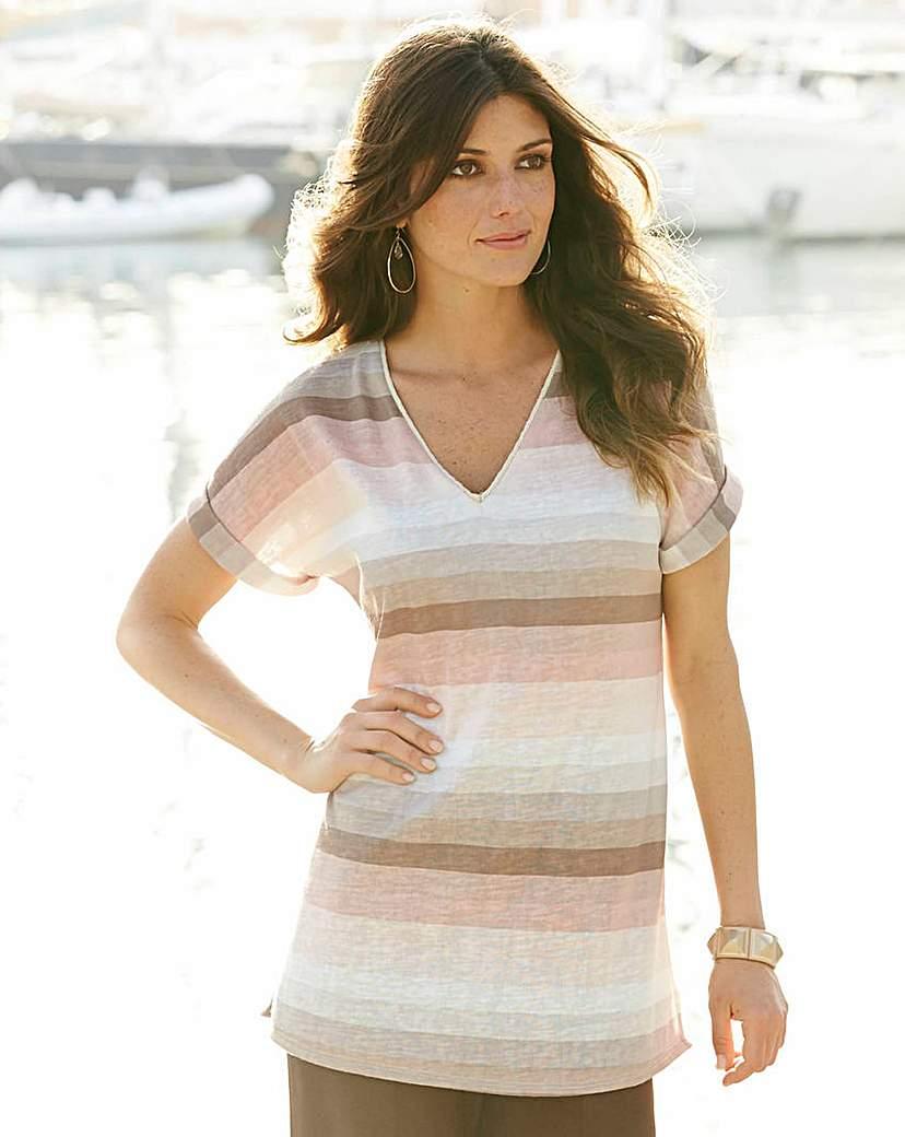 JOANNA HOPE Stripe Jersey Knit Tunic