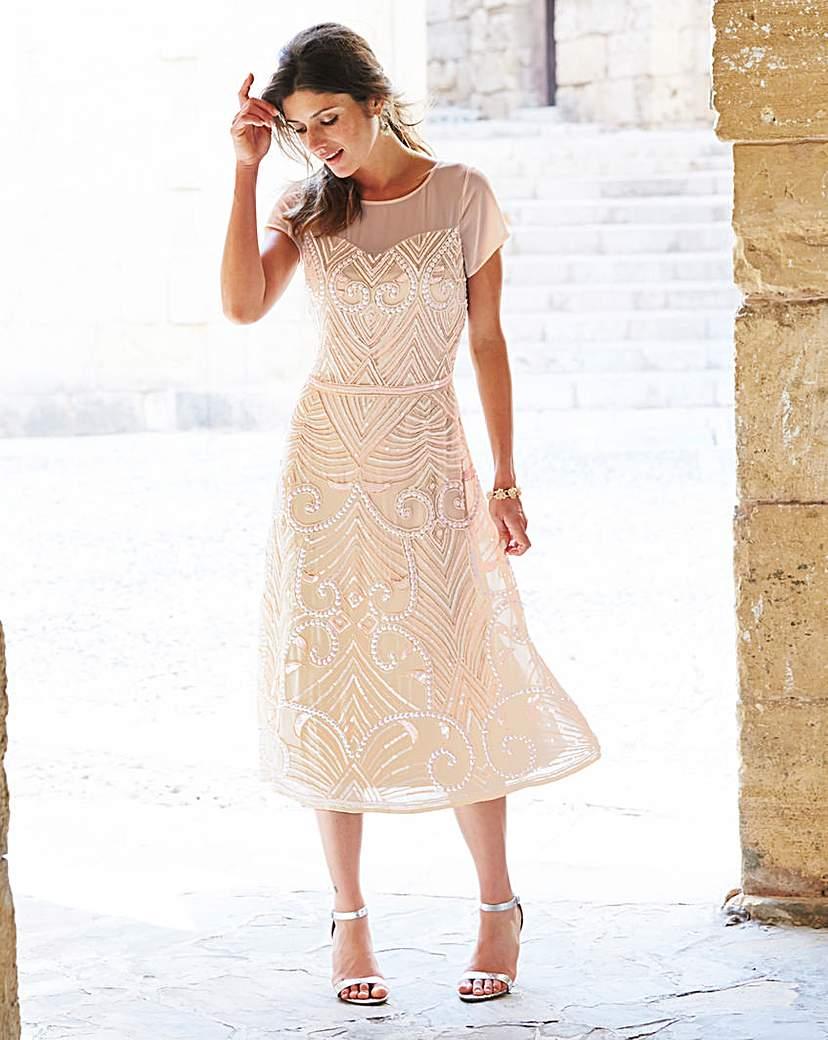 1920s Formal Dresses Guide JOANNA HOPE Embellished Dress £44.00 AT vintagedancer.com