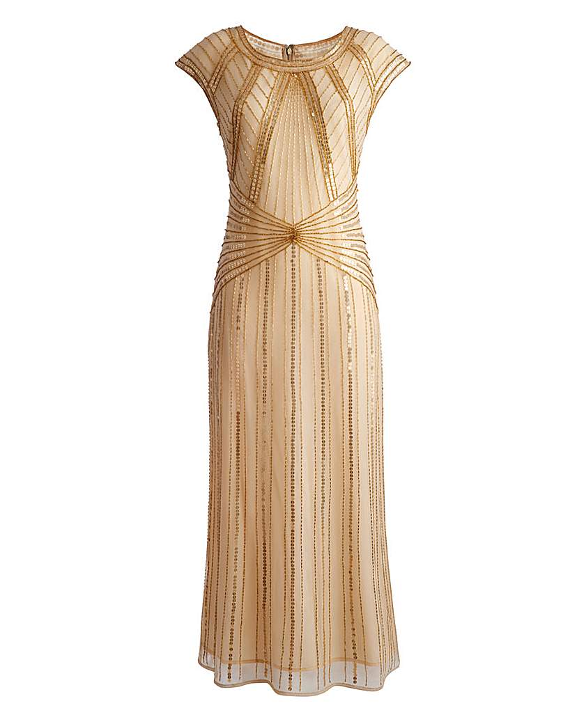 Petite JOANNA HOPE Beaded Maxi Dress £88.00 AT vintagedancer.com
