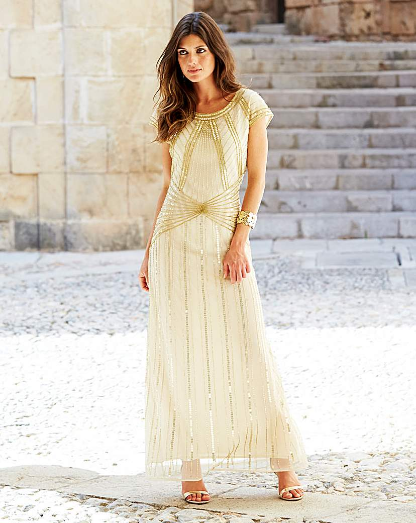 Petite JOANNA HOPE Beaded Maxi Dress £117.00 AT vintagedancer.com