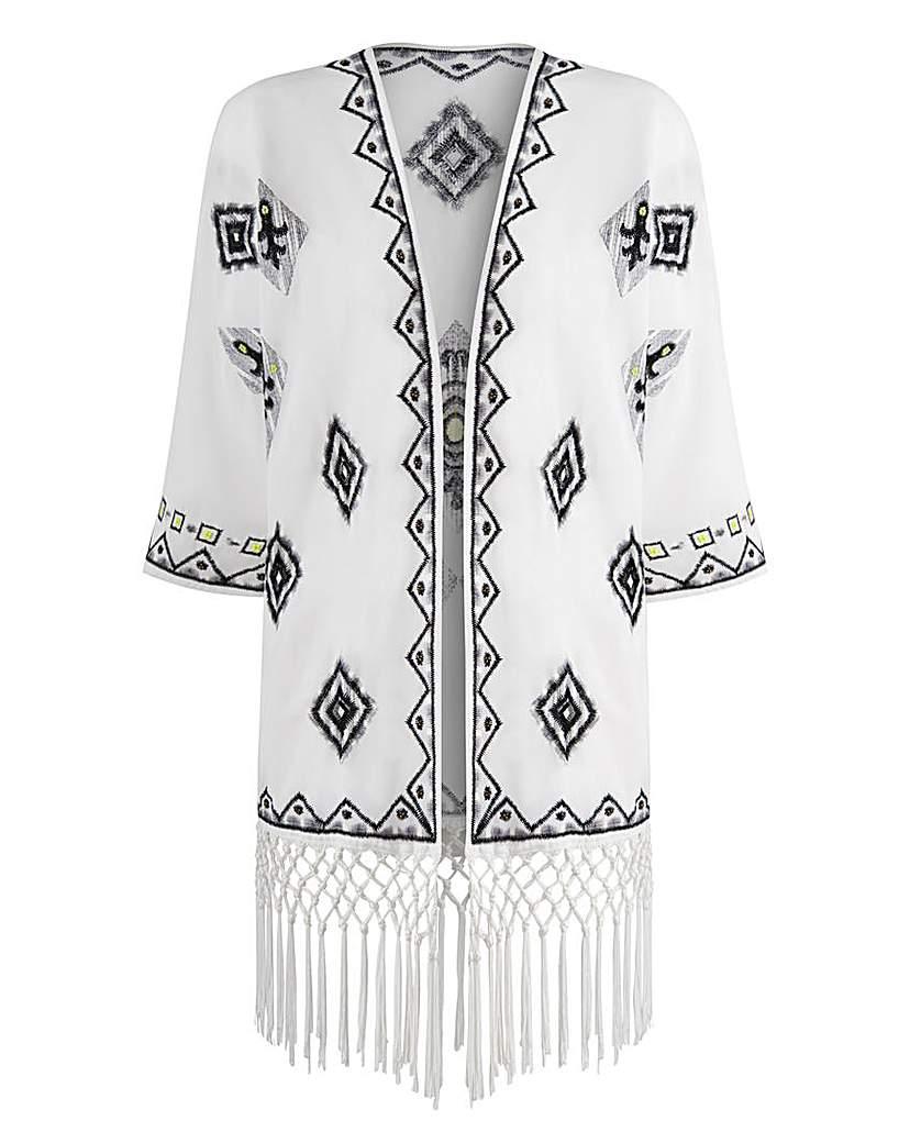 1920s Style Wraps JOANNA HOPE Embroidered Kimono Jacket £34.50 AT vintagedancer.com