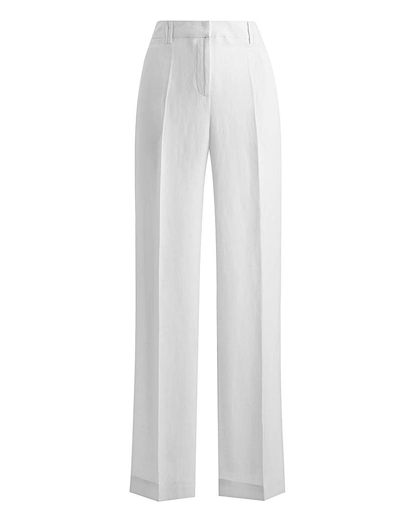 1920s Style Women's Pants, Trousers, Knickers JOANNA HOPE Wide Leg Linen Mix Trouser £24.00 AT vintagedancer.com