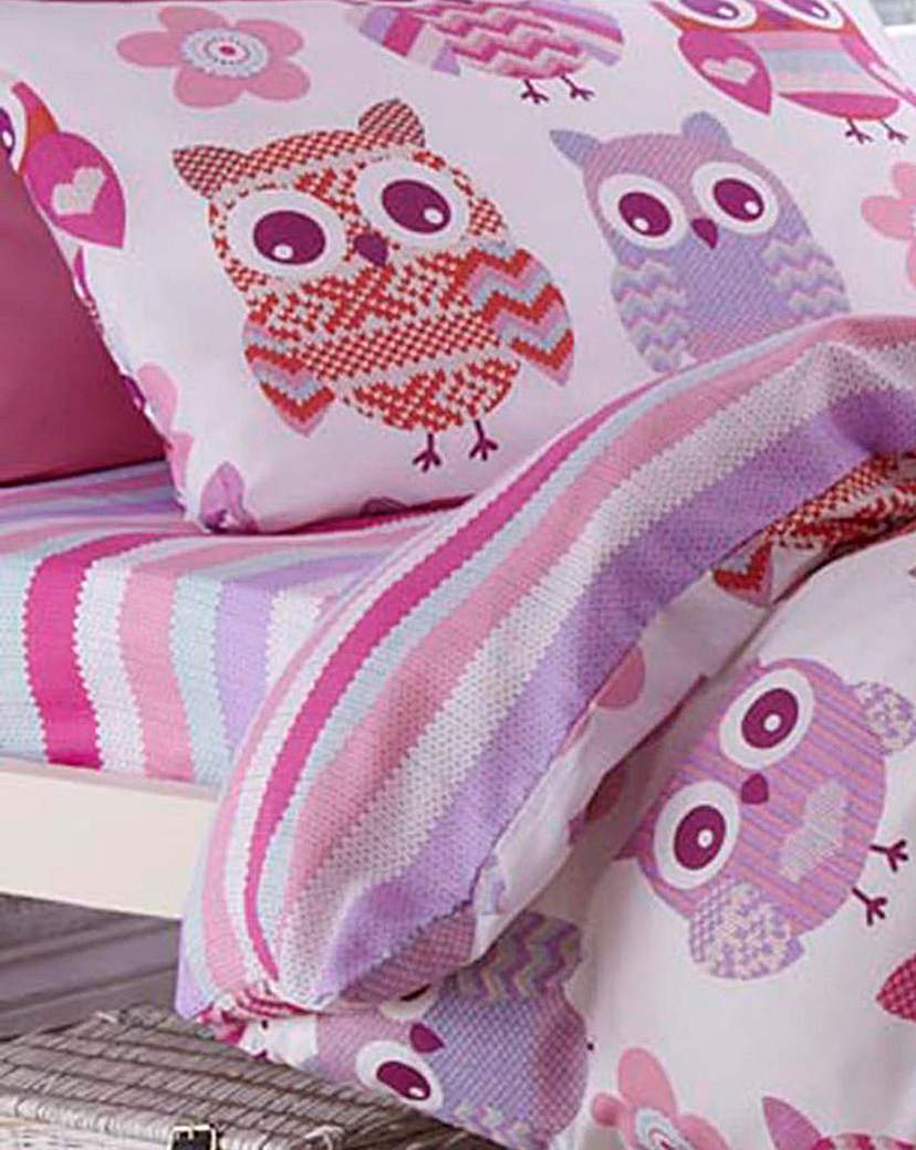 Image of Twit Twoo Patterned Fitted Sheet