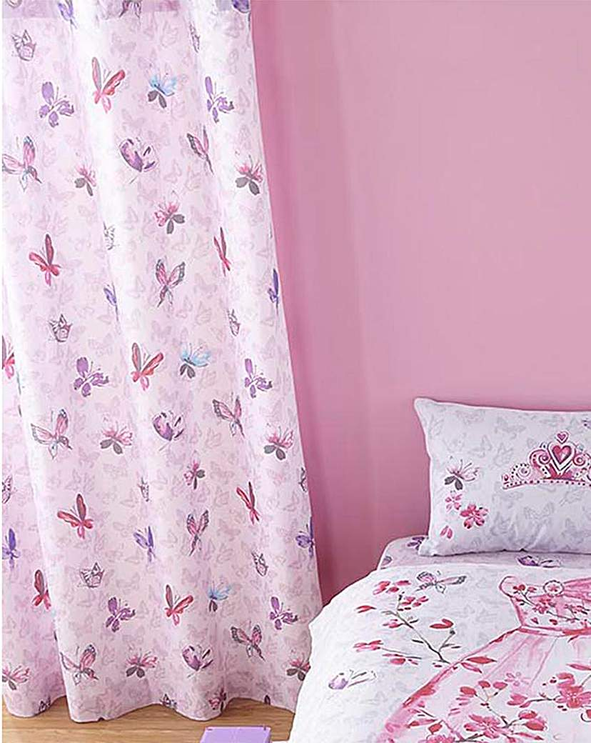 Image of Glamour Princess Lined Curtains 66x72IN