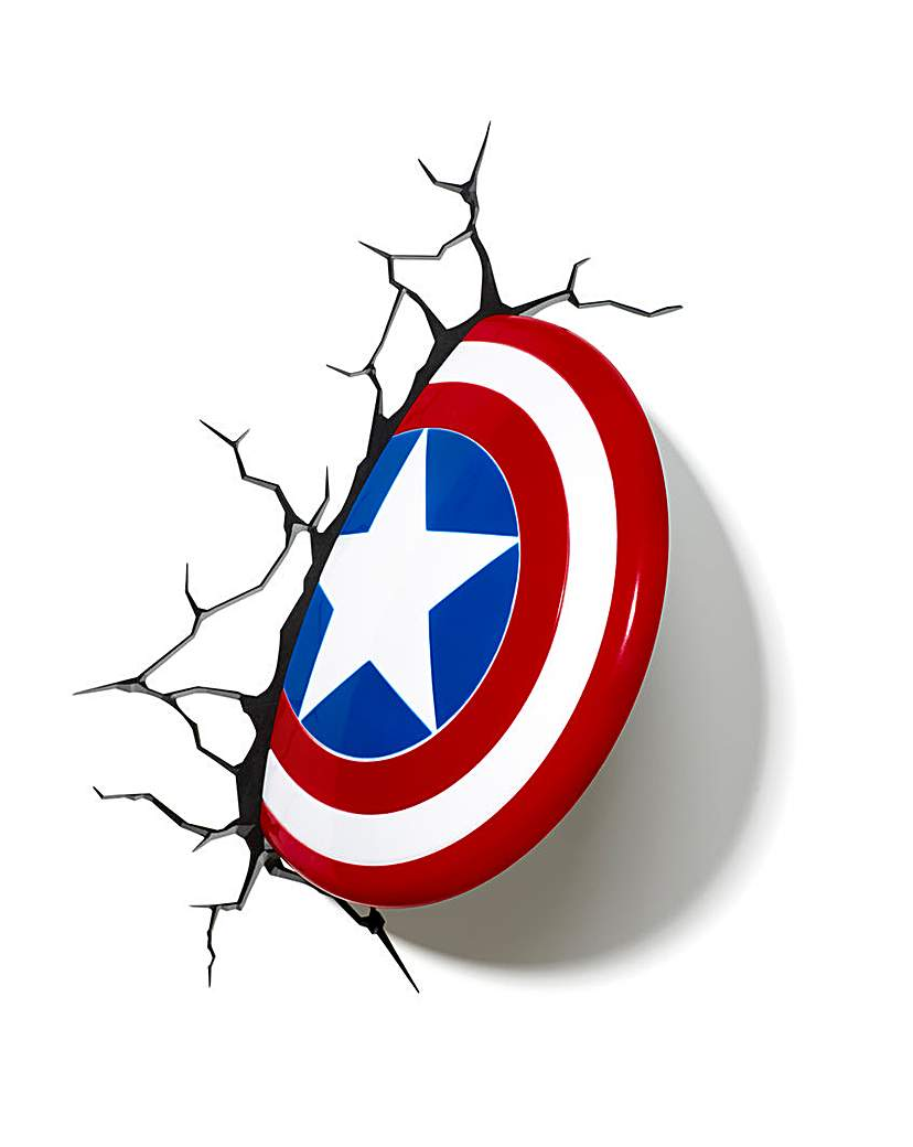 Image of Marvel Captain America Shield Wall Light
