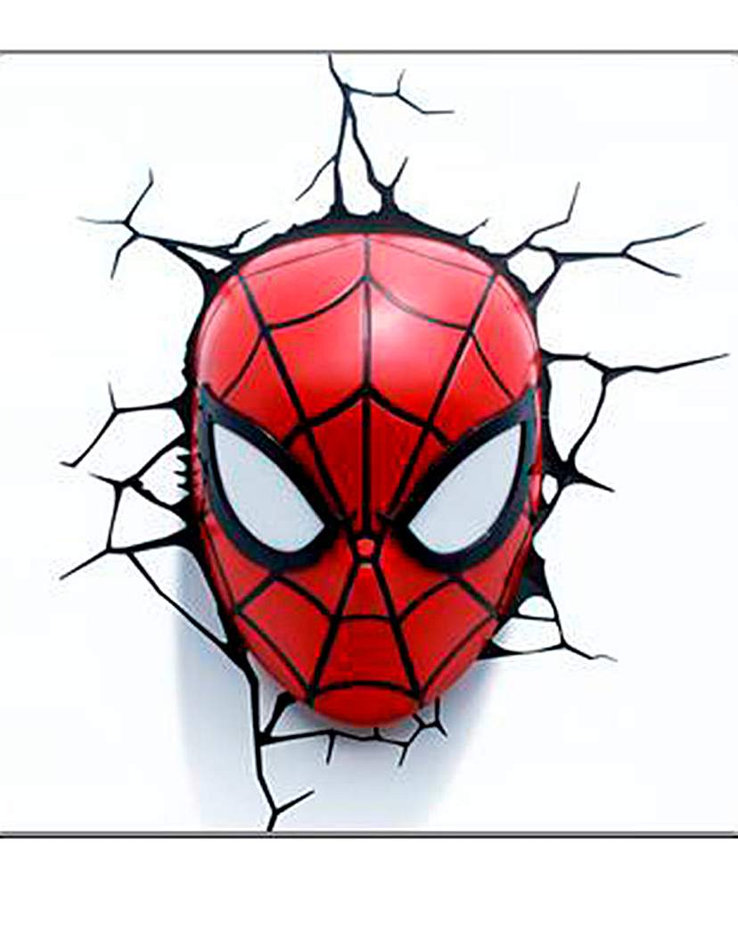 Image of Spiderman Face 3D Deco Wall Light