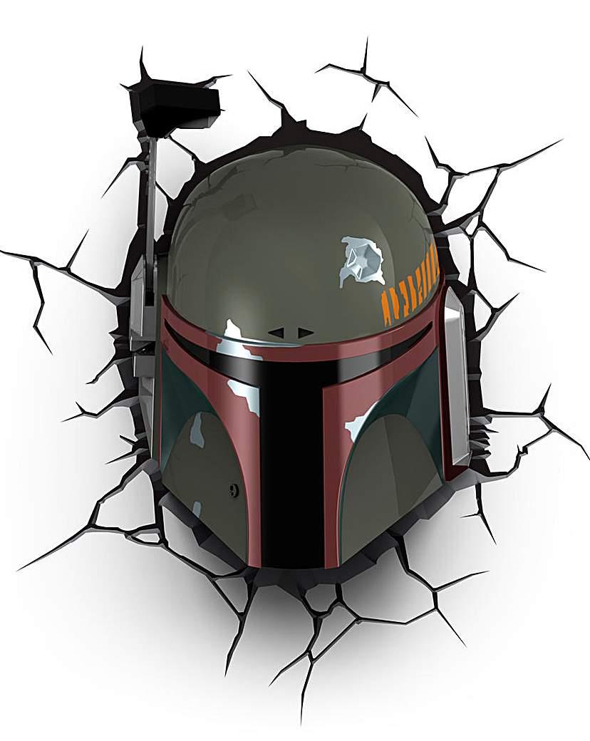 Image of Star Wars Boba Fett 3D Deco Wall Light