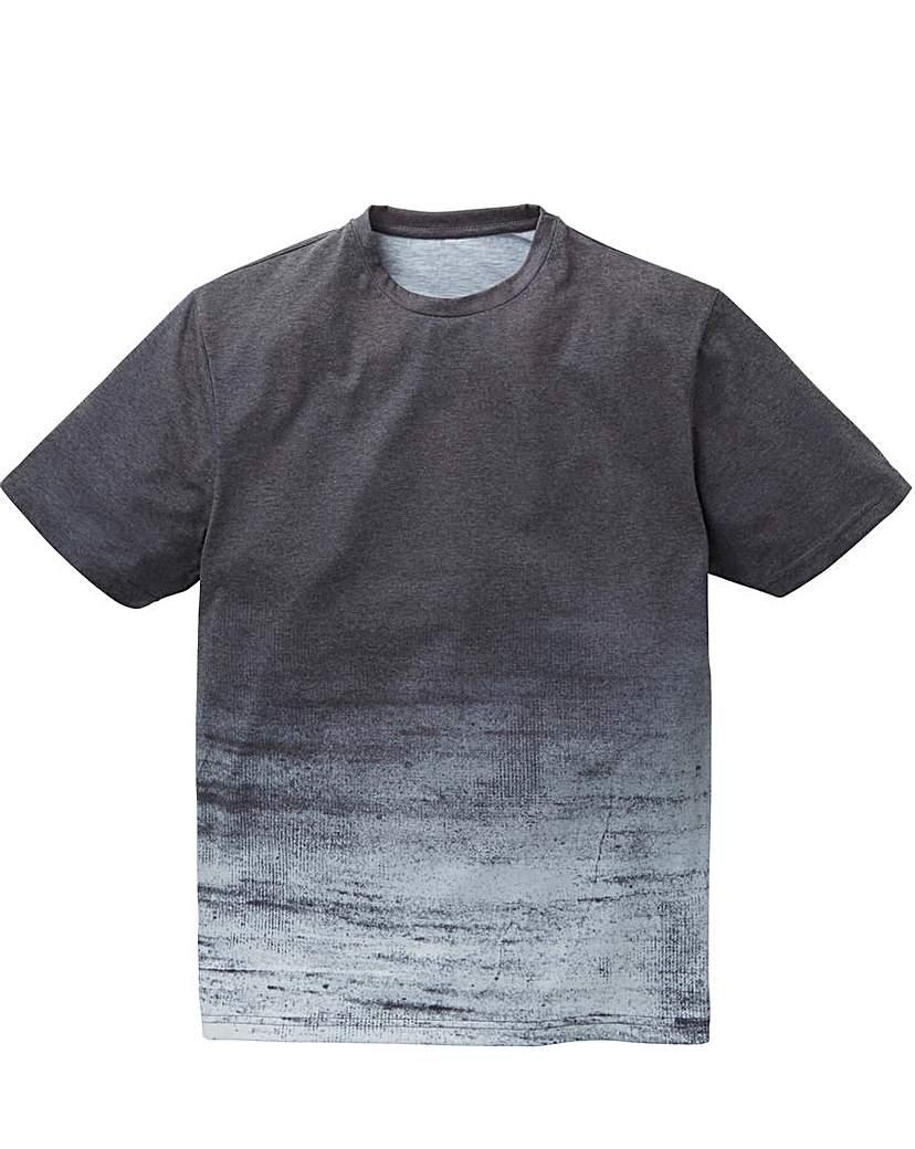 Label J Texture Stripe Step Hem Tee