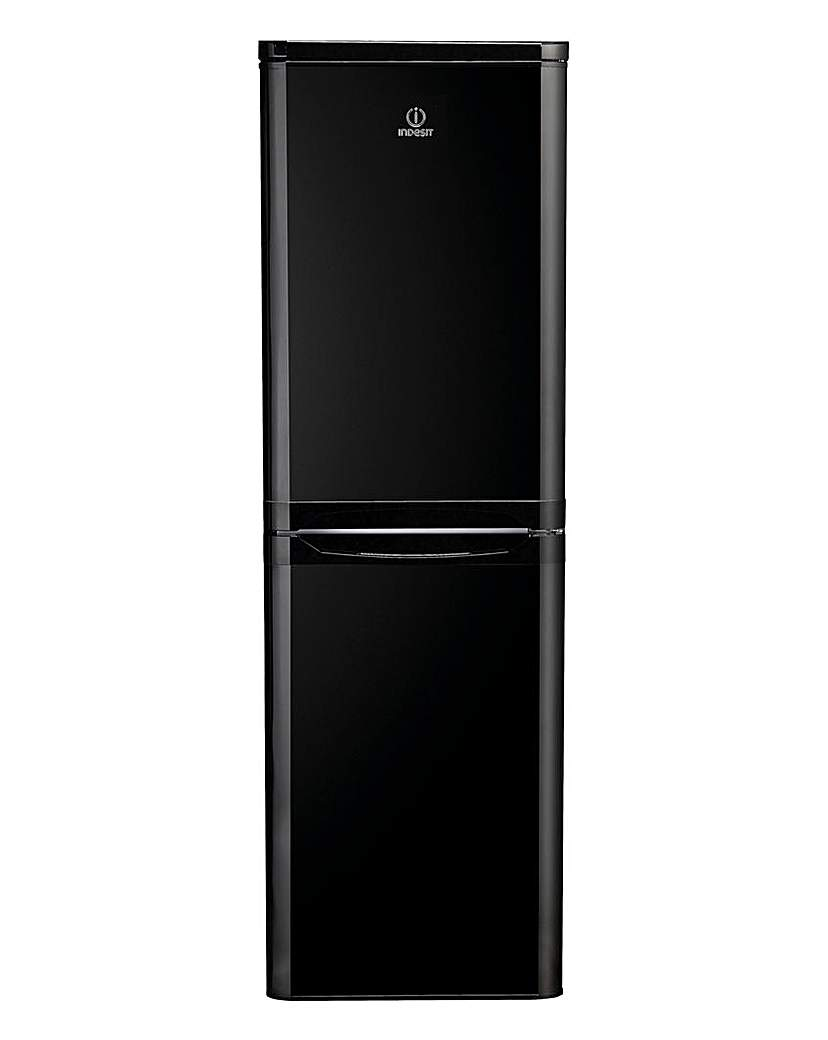 Indesit Combi Fridge Freezer Black