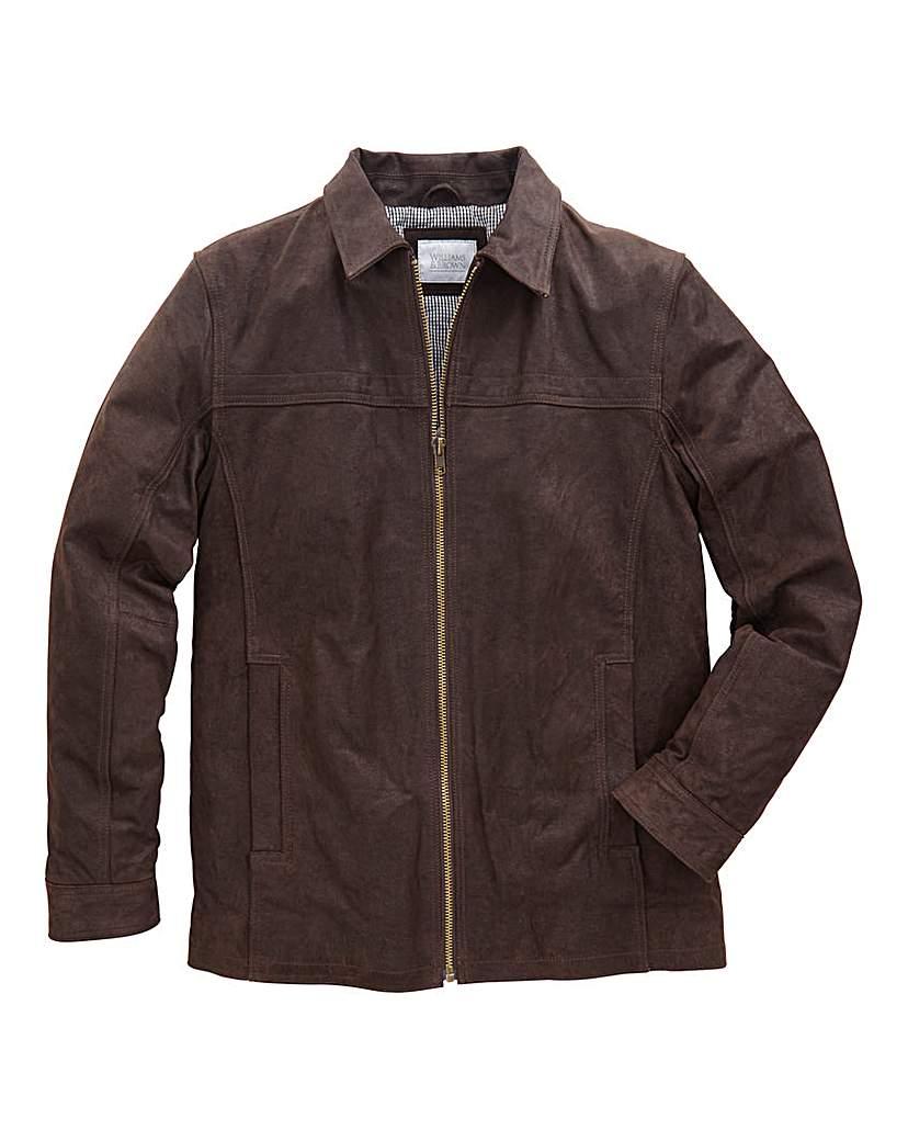 WILLIAMS & BROWN Leather Harrington
