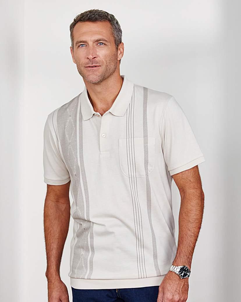 1950s Style Mens Shirts Premier Man Ribbed Hem Polo Shirt £8.00 AT vintagedancer.com