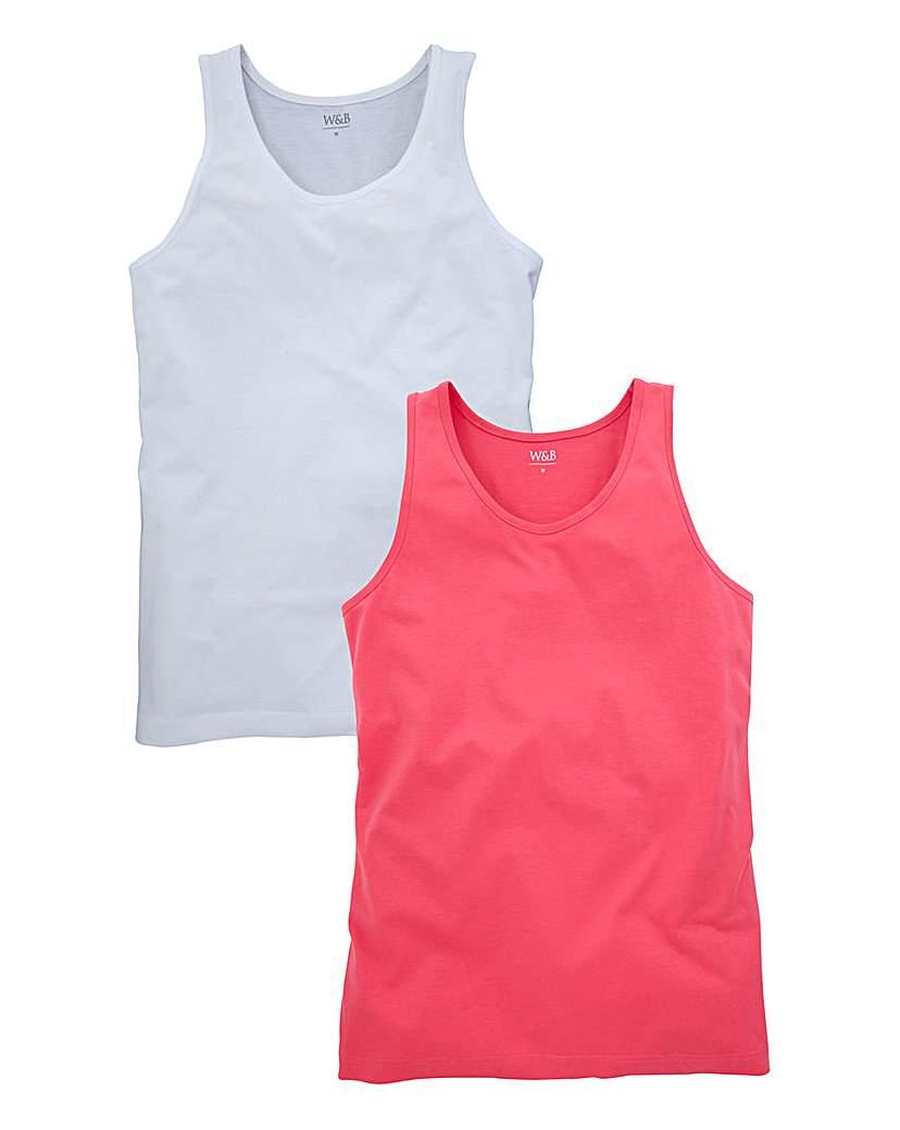 Image of WILLIAMS & BROWN Pack of 2 Vests